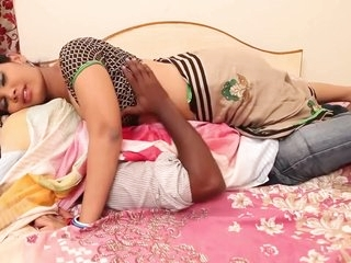 Anjali Aunty Romance With Husband On Bed (Part 2)