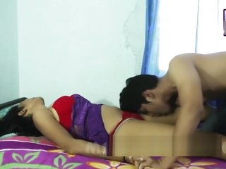 Desi shortfilm 10 - Desi bhabhi's tongue kiss, boob kiss hard & navel kiss