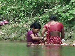 Bhabhi Taking Bath in Ganga