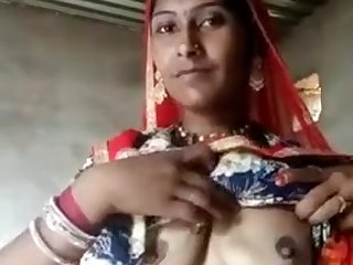 rajistani women showing her assets