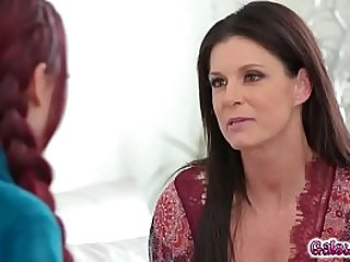 India Summer meets Sabina Rouge for the first time Sabina is standing there looking naturally sultry!