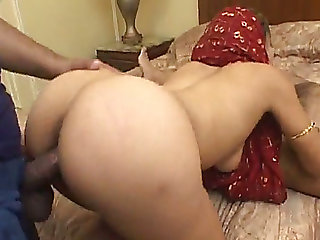 Darksome hungry dawgs fuck large assed Indian cougar hard