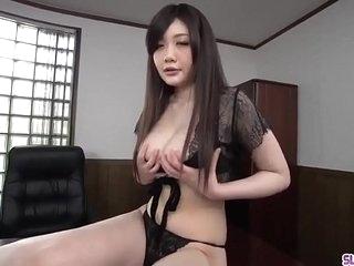 Rie Tachikawa kneels to swallow dick then swallows jizz - More at Slurpjp.com