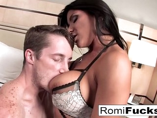 Romi gets a good fuck from a big cock