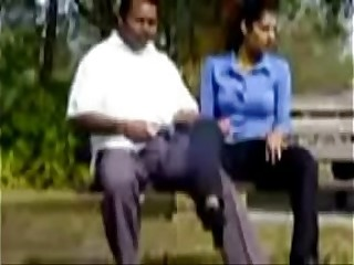 18 Years Student sucking in Park