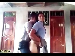Indian school couple outdoor sex fun - www.walalanka.com