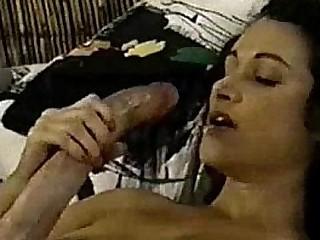 A Big Dick Hermaphrodite Cums On Herself